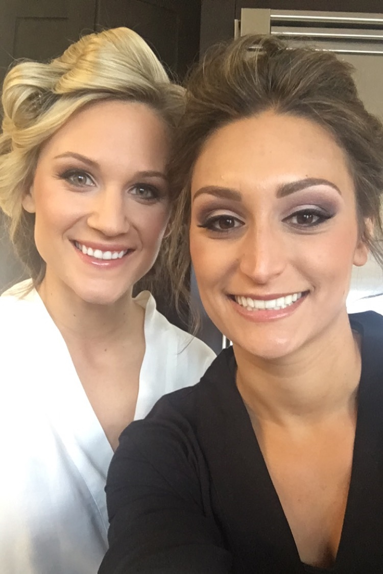 The Bride and her Maid of Honor. Besties Kristen and Jamie pose for a selfie on Kristen's big day. Stunning hair and makeup by Lejeune Artistry in Orlando, FL.