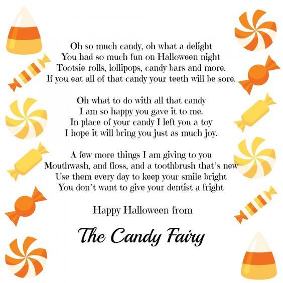 Candy Fairy Poem via madamedeals.com/candy-fairy-poem