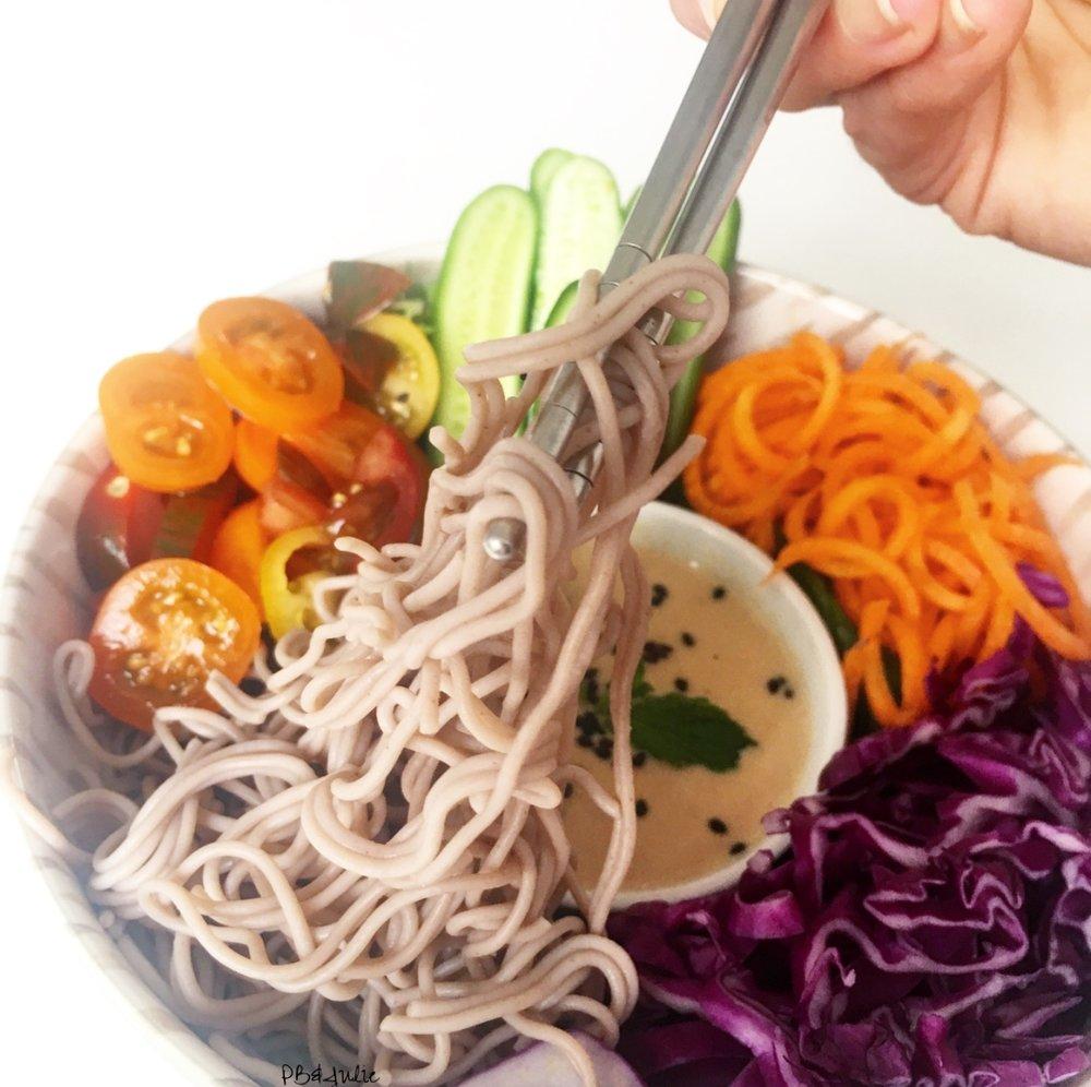 Asian-Style Sesame Noodles - Vegan // Gluten Free