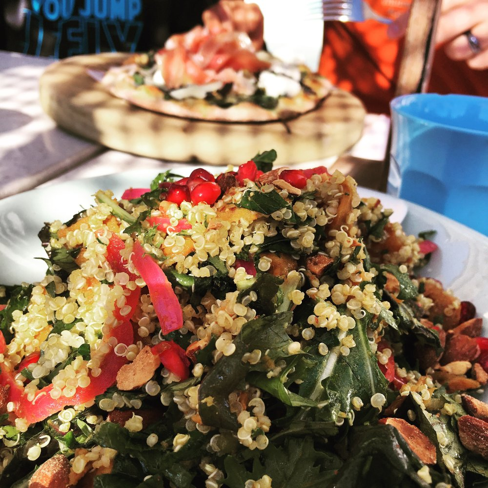 The original Summer Salad by The Boathouse Shelly Beach… vegan and gluten free and a massive pile of kale, quinoa and sweet potato goodness. Simple, yet divine. Your holiday spread needs this.