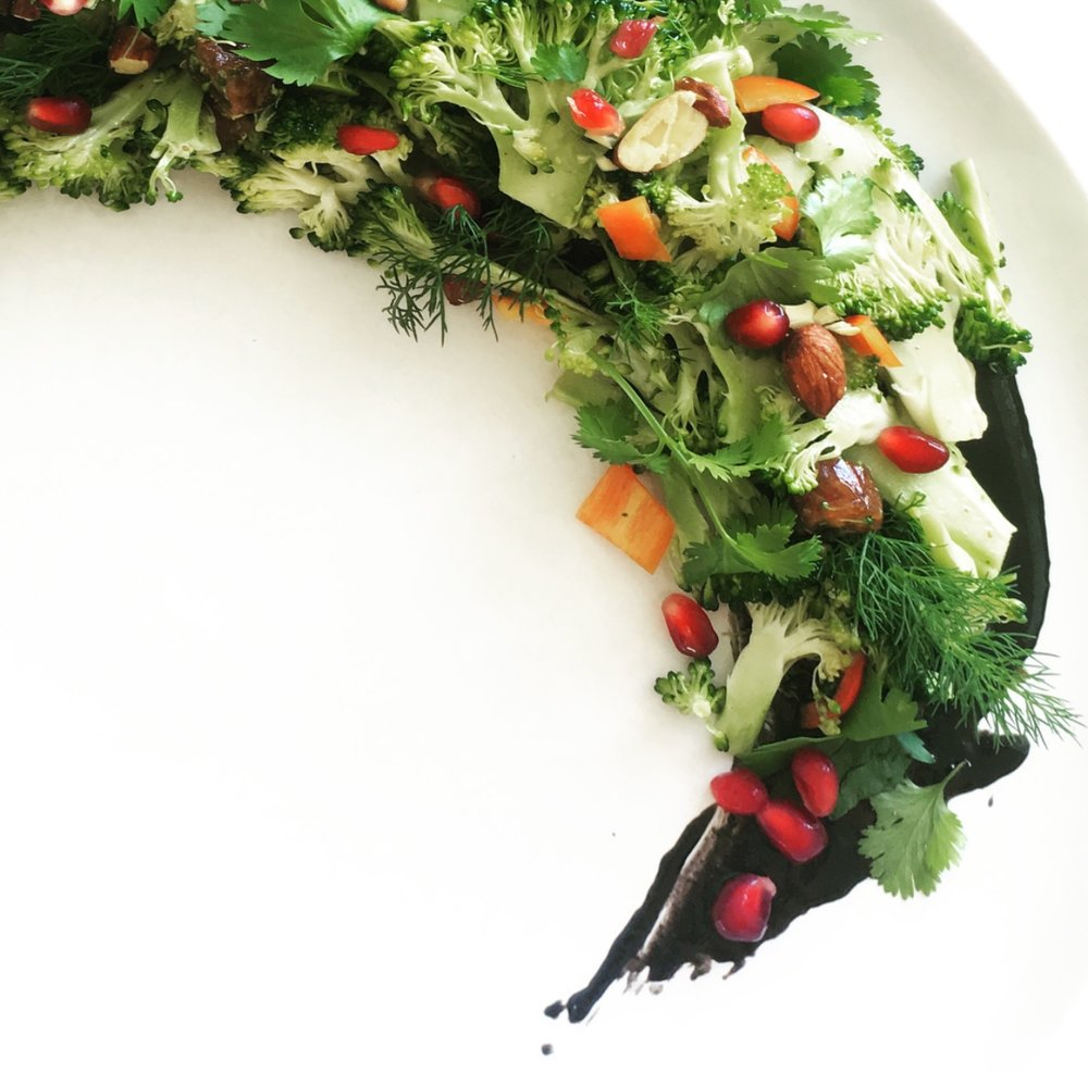 Festive and a visual delight, this broccoli salad is both beautiful and detox-worthy. #vegan #raw #salad #glutenfree #paleo