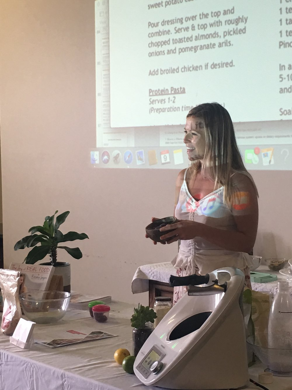 Sharing the power of plants and simple recipes at a nutrition workshop hosted by my local yoga studio #bliss