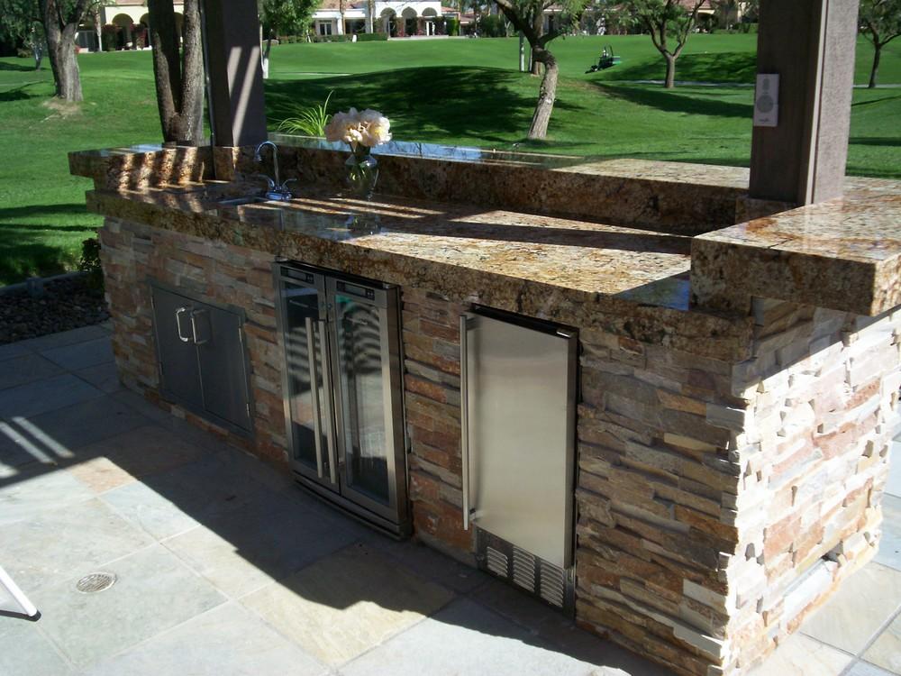 Granite and Stack Stone