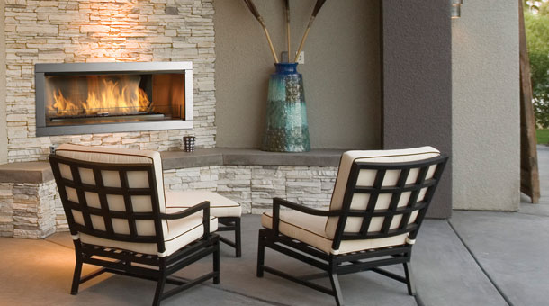 Regency        HZO42      Outdoor Lineal Fireplace