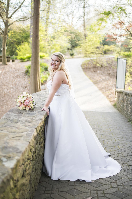 April bridal portraits with Blake at the South Carolina Botanical Gardens in Clemson, SC.
