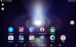 4) You new Wallpaper will appear in the background. Remember, you can change the wallpaper as often as you like.