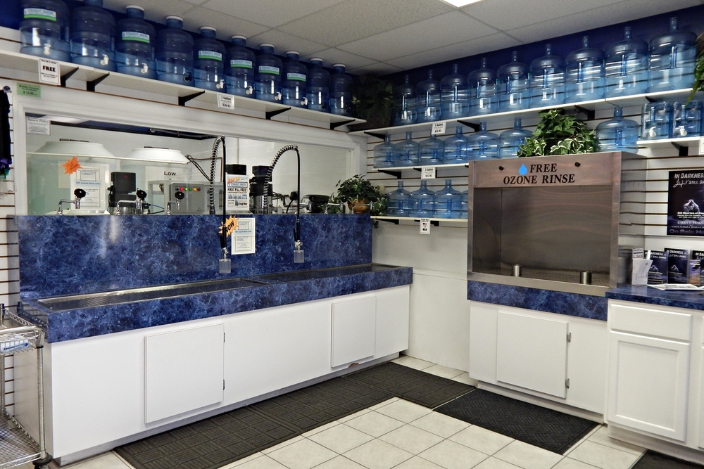 You'll always find our store remarkably clean, just like our water!