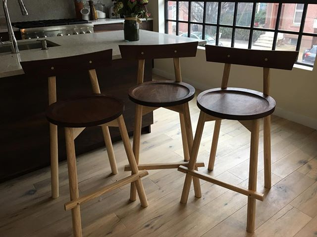 From design, to prototype, to delivery. A set of modern counter stools.