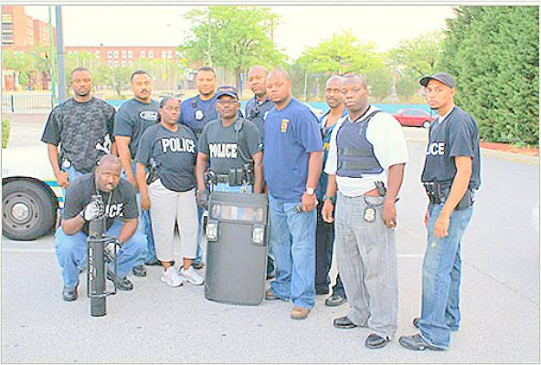 Picture of Baltimore Police with gear