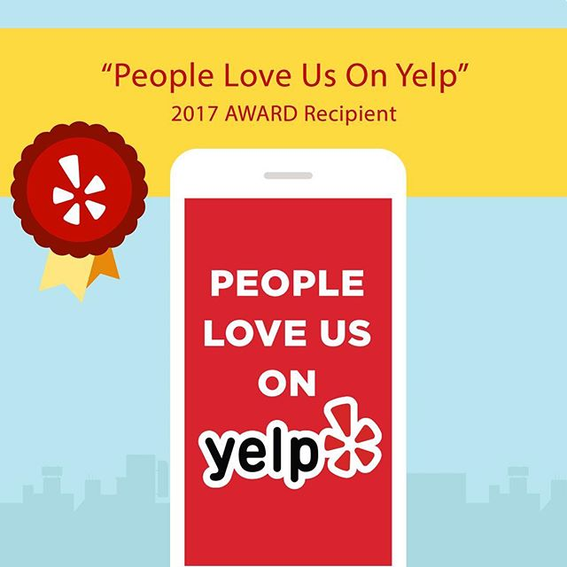 #yelp award 2 years in a row! Thanks everyone for your support! #madhatteranoka #peopleloveusonyelp