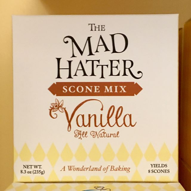 They're here! We now offer our scone mixes in four fabulous flavors - Vanilla, Blueberry, Cranberry Orange and Gluten-Free Vanilla. All Natural and Made in the USA! Available now in our gift shop ☕️🍪✨ #madhatteranoka #themadhatter #scones #teaparty #aliceinwonderland