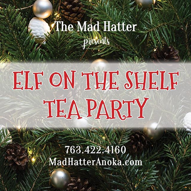 "❄️🎄☃️ It's that time again! We now have tickets available for two dates: Sunday November 26th and Sunday December 3rd. Head over to our website (link in bio) and find tickets under the ""events"" tab. #elfontheshelf #christmas #princesspartypals #madhatteranoka"