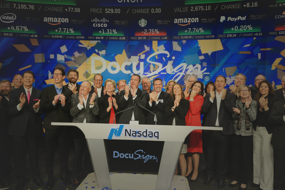 DocuSign Debuts Above Range in $4.4B IPO<br><br></a><strong>READ THE STORY →</strong>