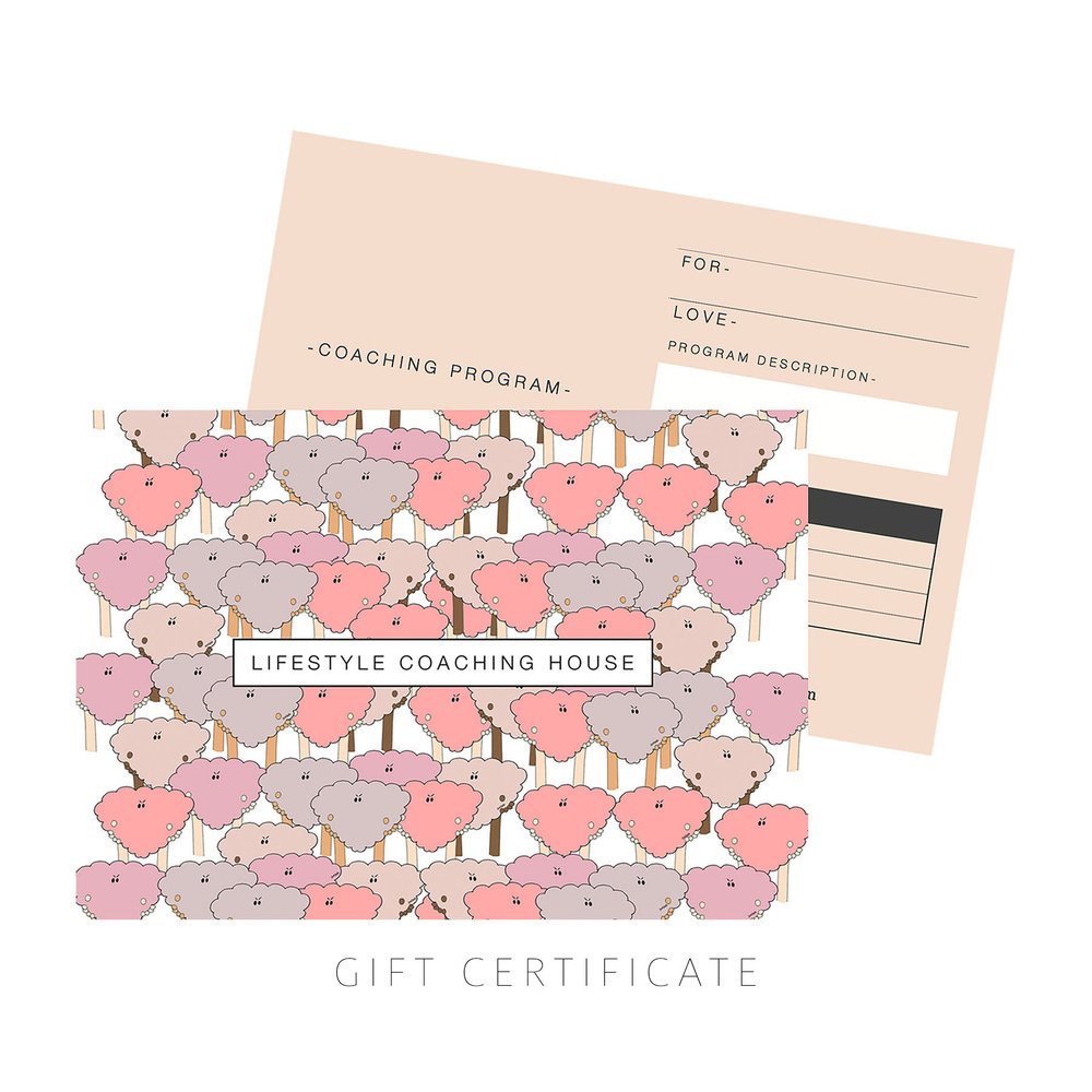 life coaching gift certificate