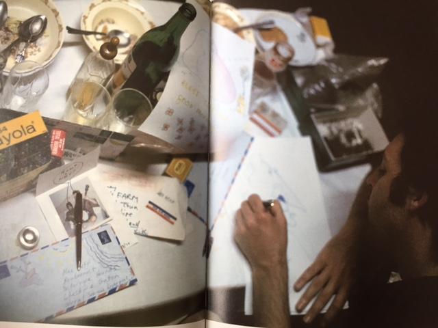 Paul McCartney writing letters - Lynda McCartney A Life in Photos  Rizzoli