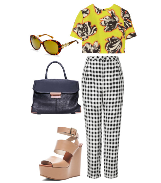 versace-sunglasses-alexander wang-chloe-jonathan saunders-topshop-fashion-ootd-demi styles-street style-plaid-mixing and matching prints-spring fashion-fashionado