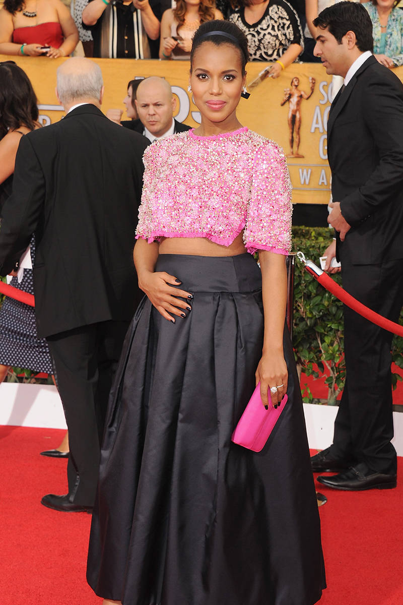 Kerry Washington in Prada at Screen Actors Guild Awards