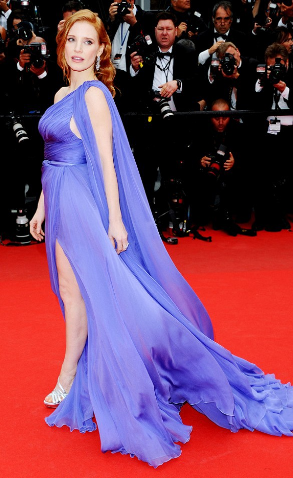 Jessica Chastain in Elie Saab Couture at the Cannes Film Festival