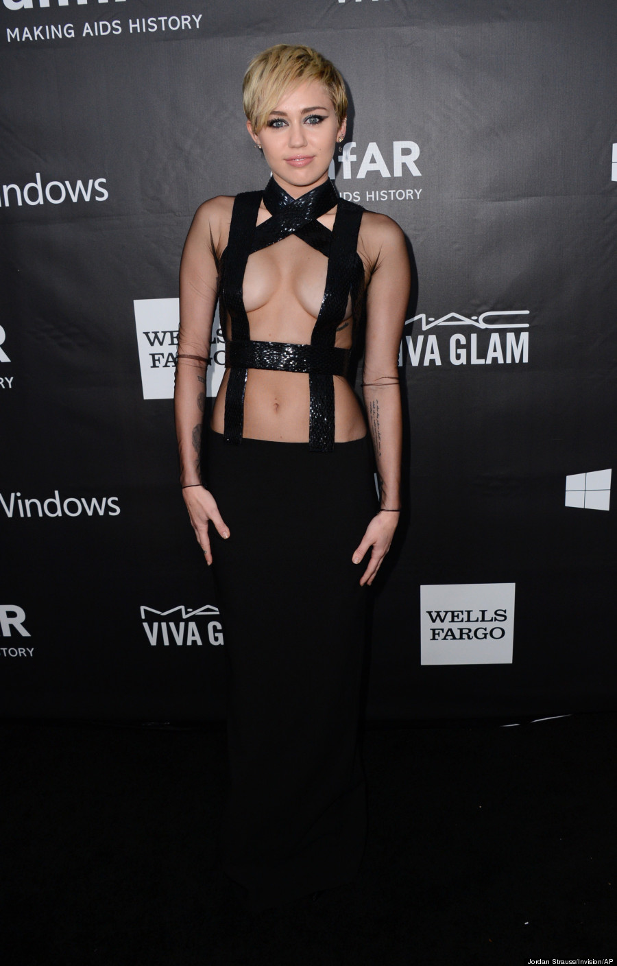 Miley Cyrus in Tom Ford at the amfAR Gala