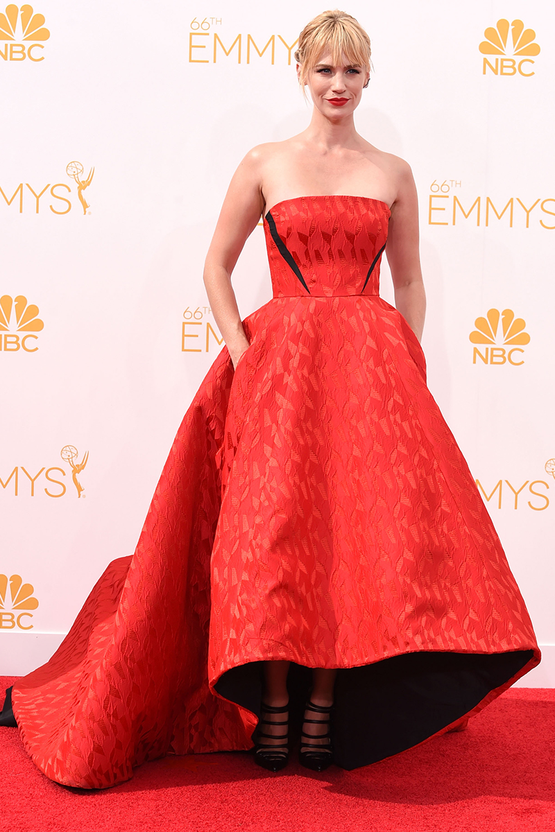 January Jones in Prabal Gurung at the Emmys