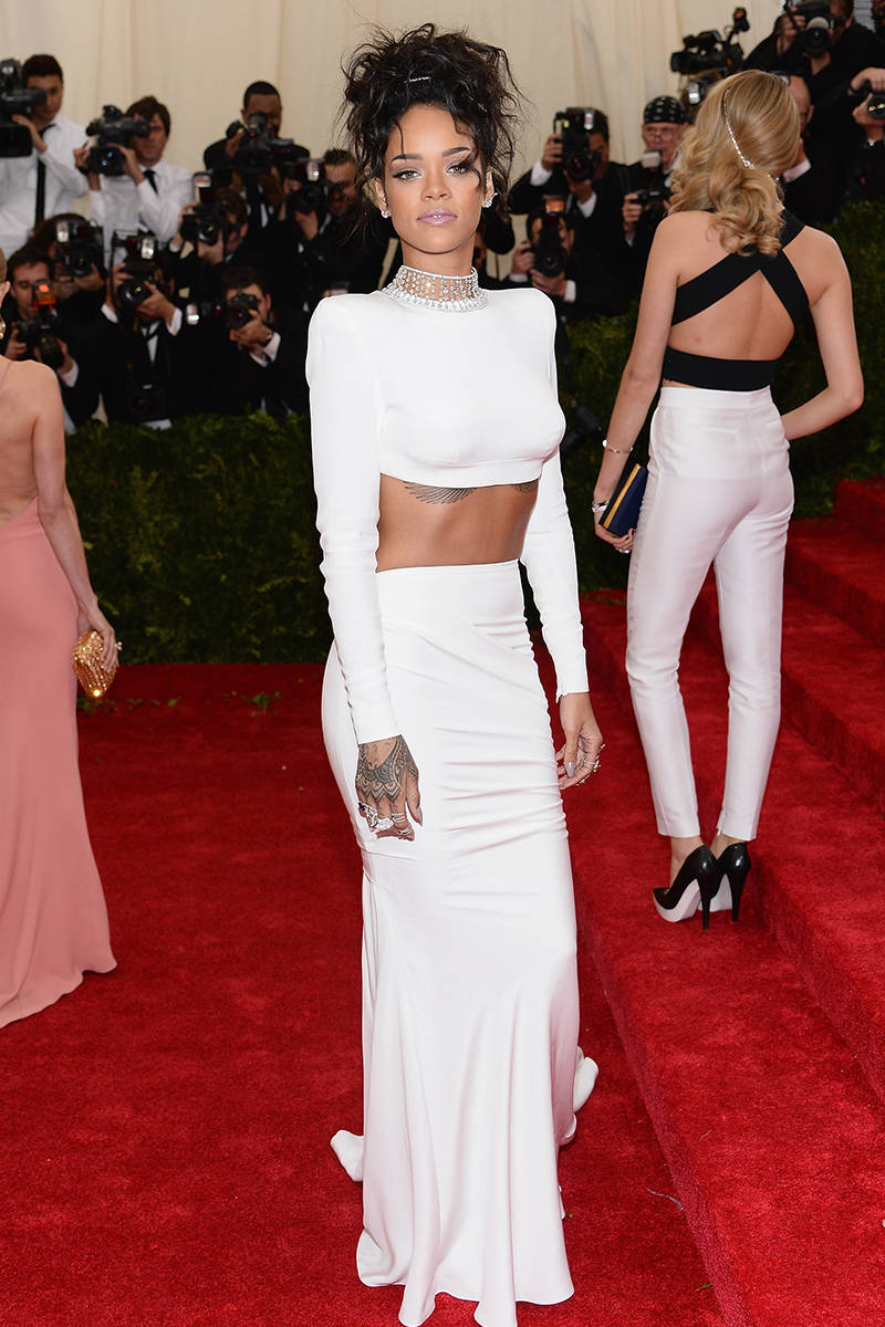 Rihanna in Stella McCartney at the Met Gala