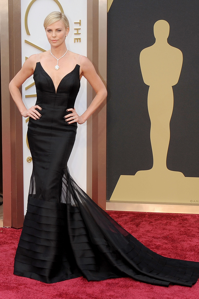 Charlize Theron in Dior Couture at the Academy Awards