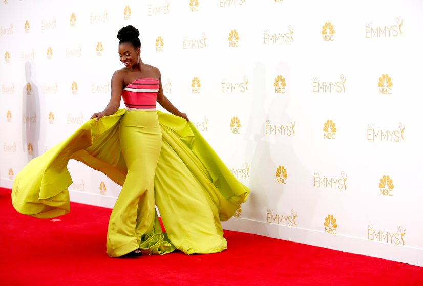 Teyonah Parris in Christian Siriano at the Emmys