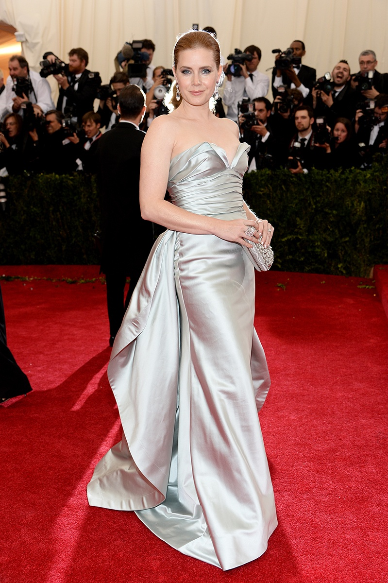 Amy Adams in Oscar de la Renta at the Met Gala