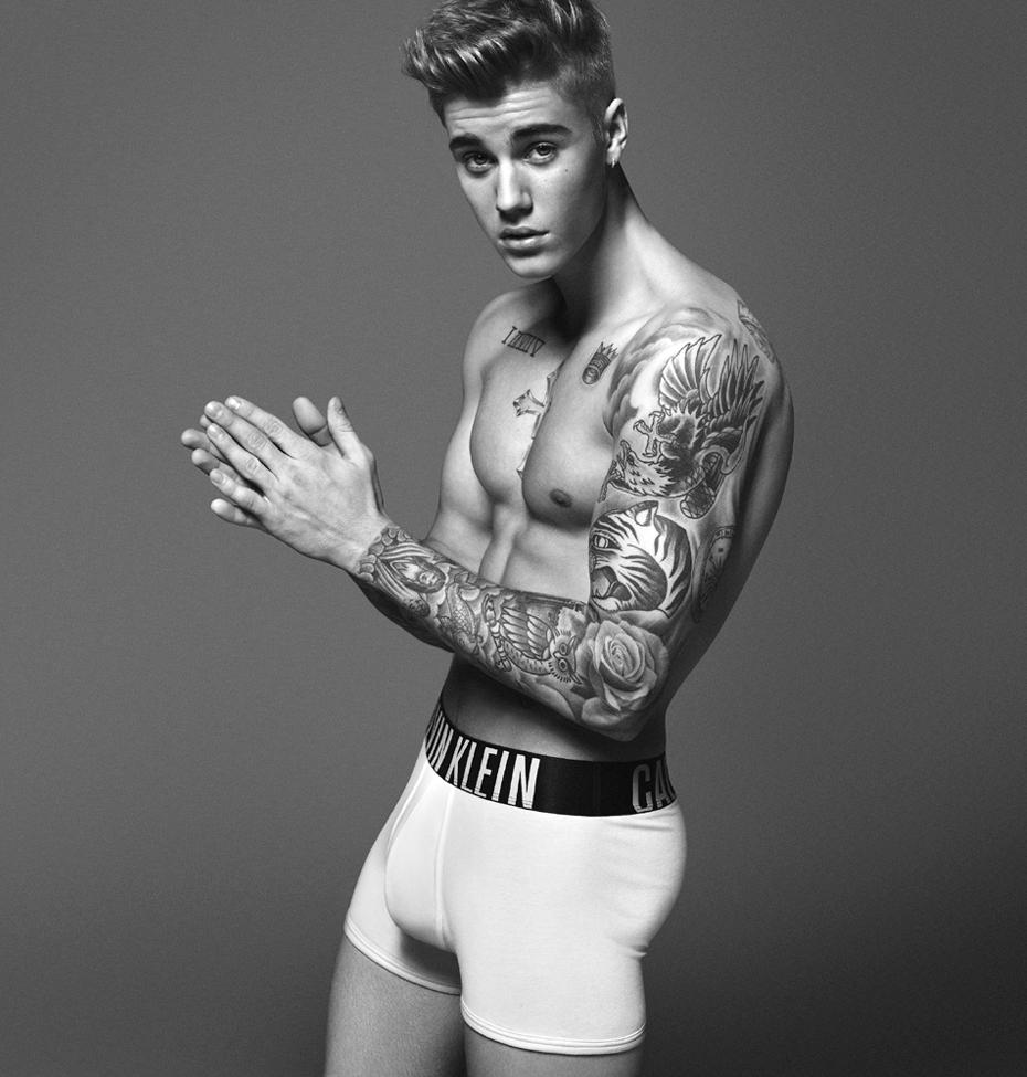 justin beiber Strips for Calvin Klein