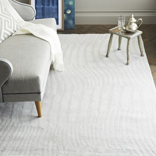 Wavy Stripe Sculpted Wool Rug – West Elm