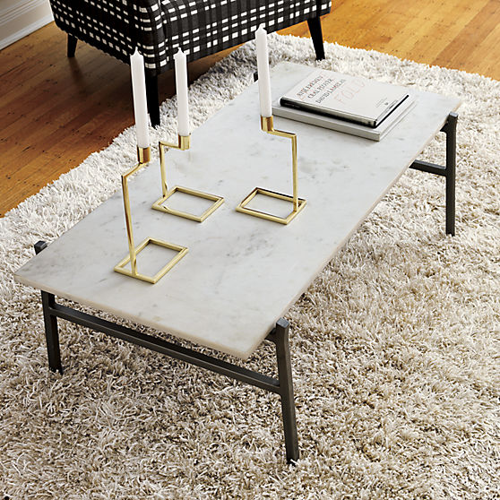 Slab Marble Coffee Table – CB2