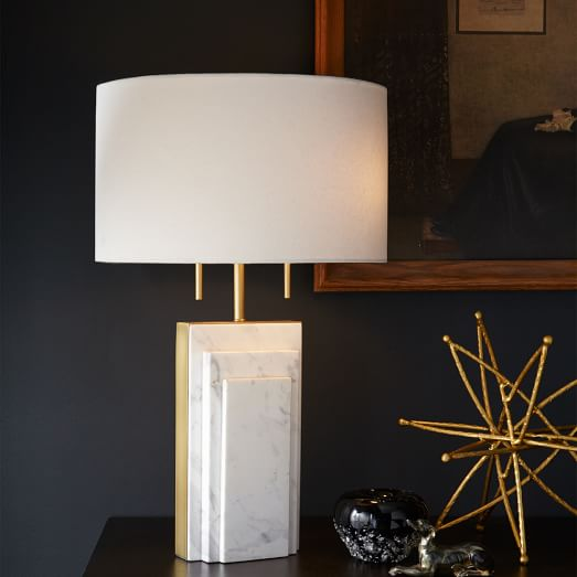 Deco Marble Table Lamp – West Elm