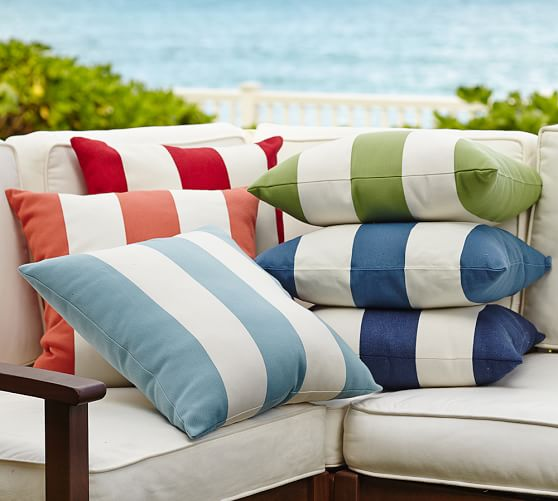 PB Classic Stripe Indoor/Outdoor Pillow –  Pottery Barn