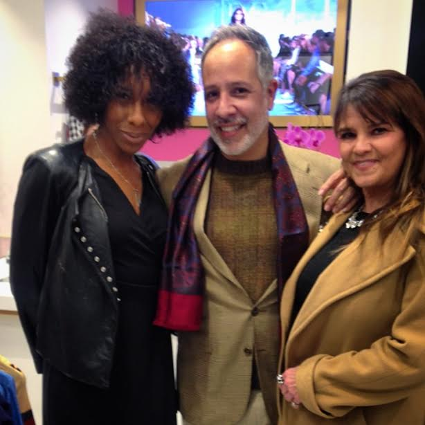 Sharing a DVF moment with Theo Tyson & Jan Hickel.