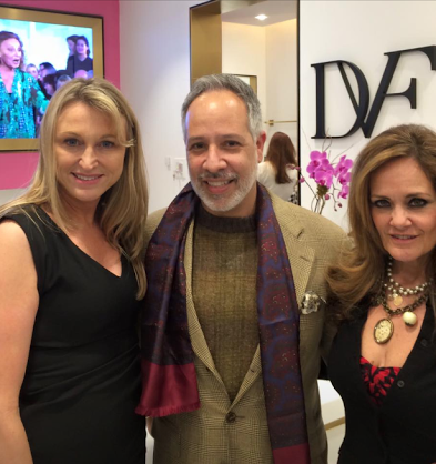 Another DVF moment. This time with Annie Carleo & Lisa Rayner.