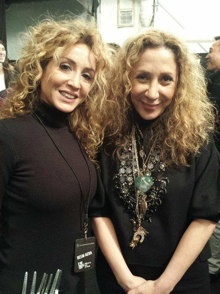 Azita Rezaei & Reem Acra. #NYFW2015