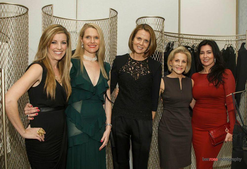 Cinda Boomershine, Susan Been, La Perla North America CEO Suzy Biszantz, Amy Nelson & Jada Loveless