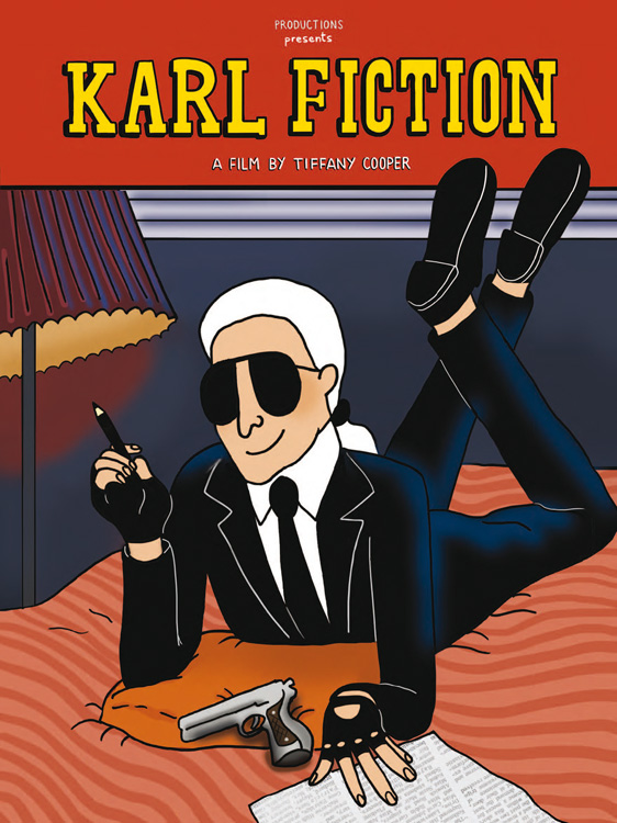 karl lagerfeld pulp fiction