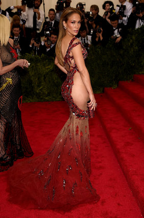 Jennifer Lopez in Versace.