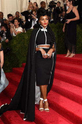 Janelle Monae in a caped H&M.