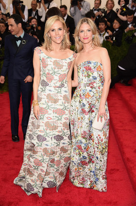 Tory Burch and Melanie Laurent... poor things... Laura Ashley threw up on them.