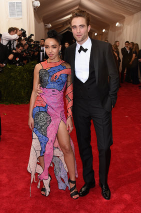 FKA twigs in Christopher Kane, and Robert Pattinson.