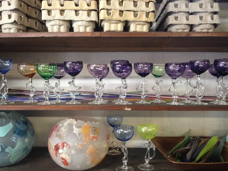 Beautiful glassware in production at Judson Guerard Hot Glass Studio.