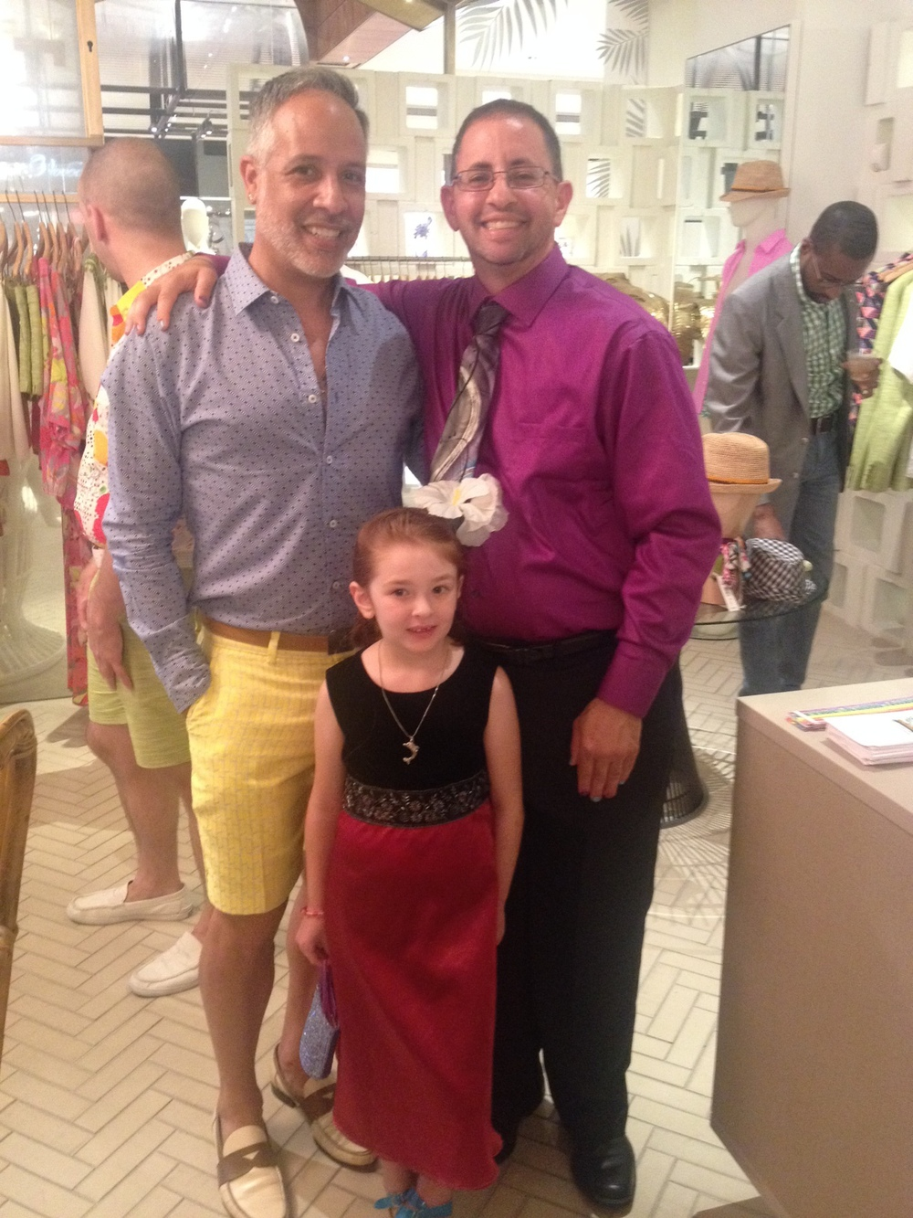 I'm pictured here with Pride School Atlanta Founder, Christian Zsalivetz and his most adorable daughter Zoe who was quite the fashionista!