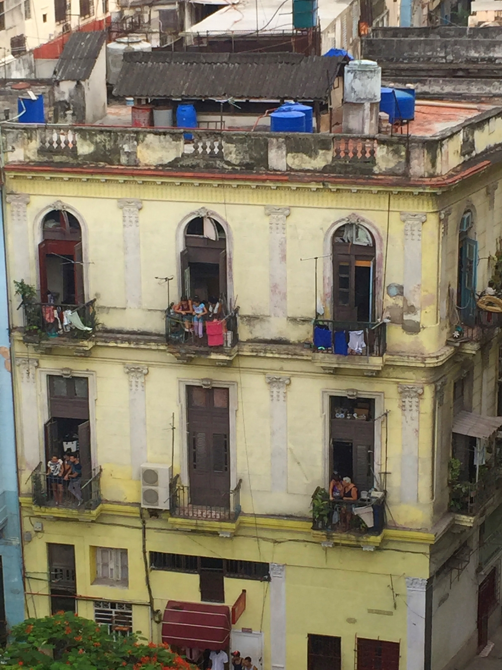 Apartment building in Havana.