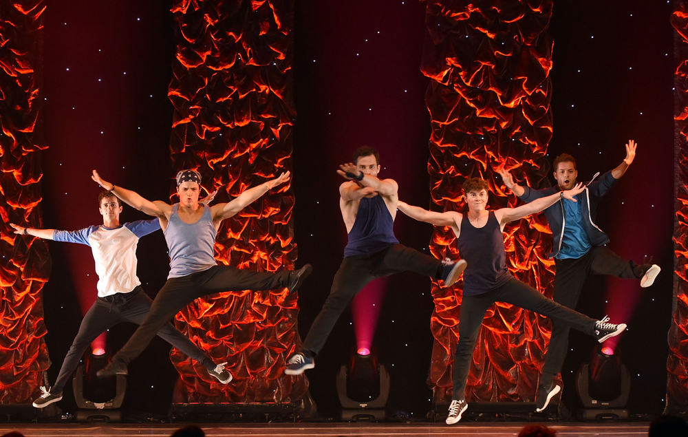 Dancers perform West Side Story Original Prologue onstage at the 5th Annual Celebration of Dance Gala.