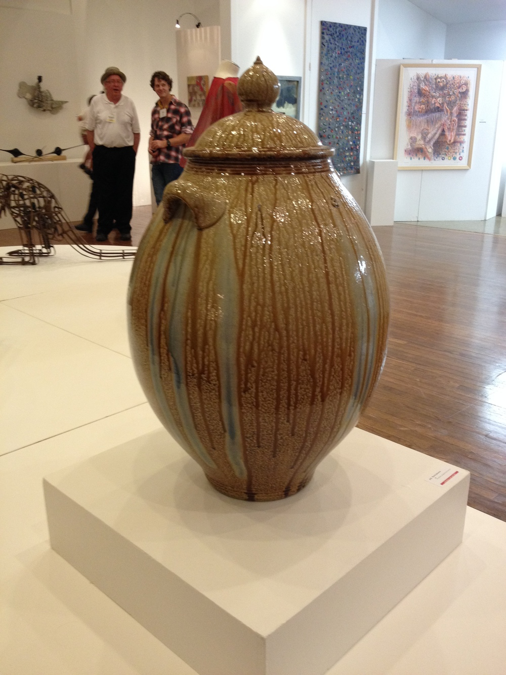 Daniel Johnston     Jar    Wood-fired, salt-glazed local stoneware 40 x 22 inches