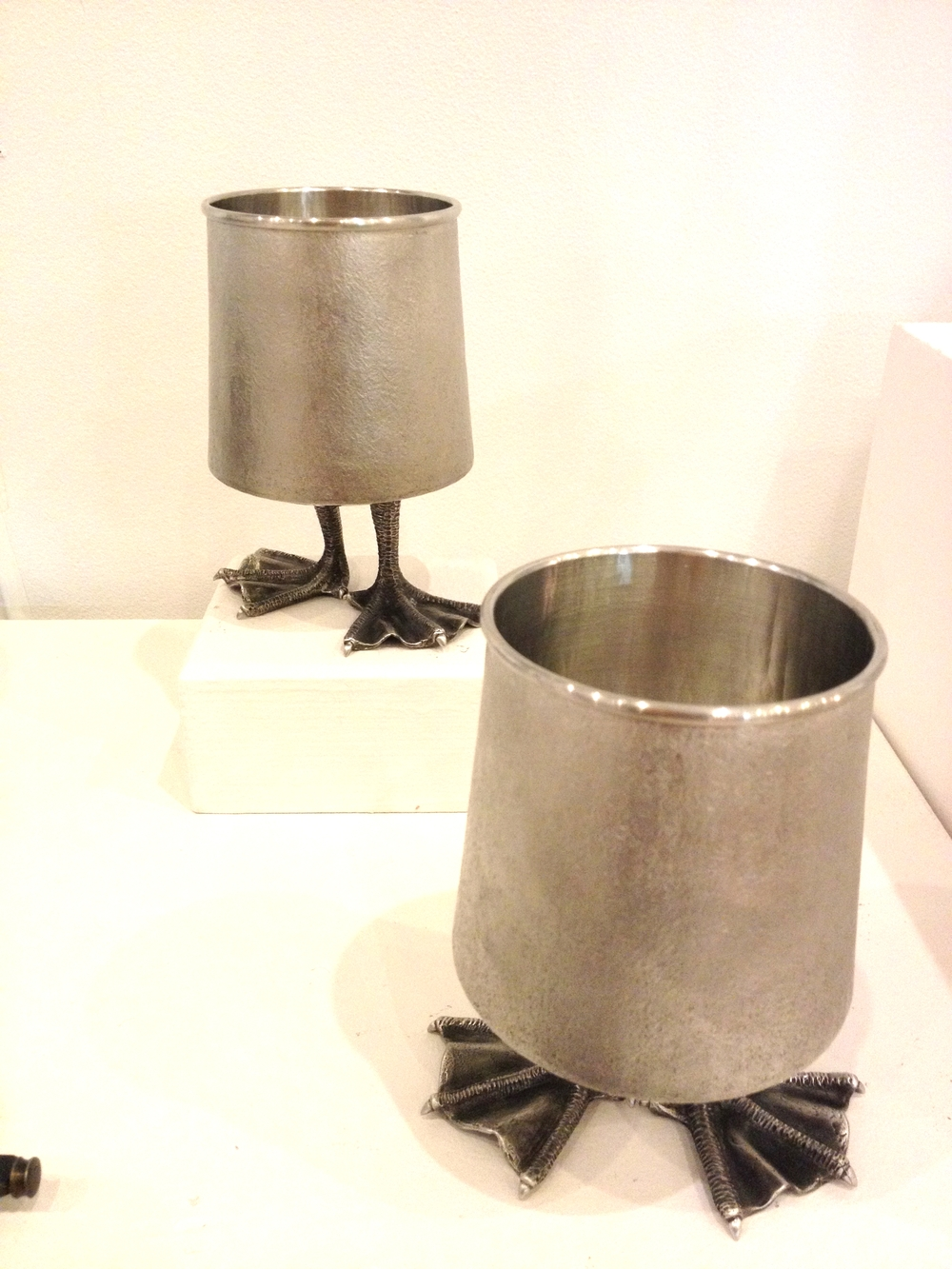 Jack Mauch     Goblets    Pewter