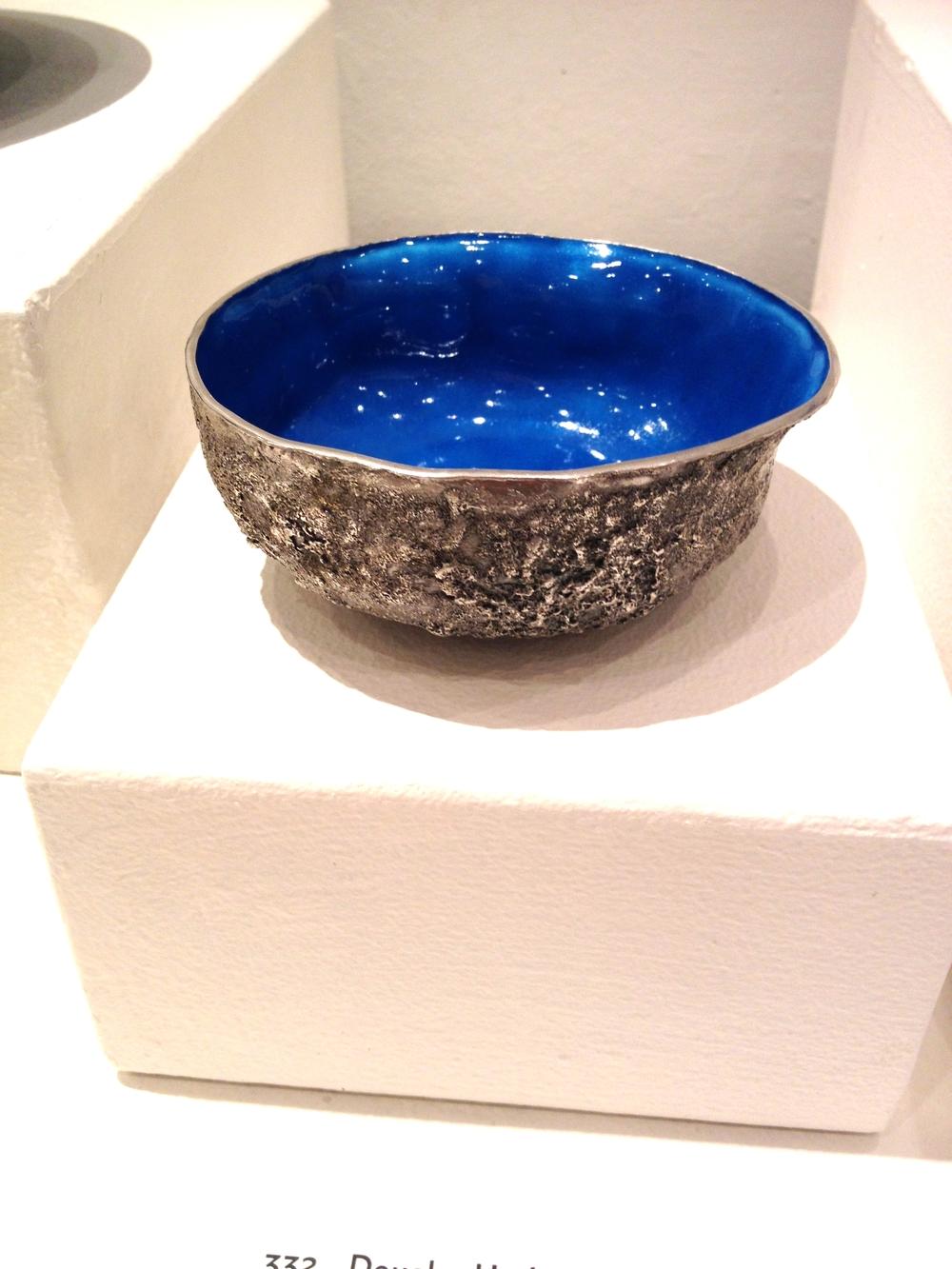 Douglas Harling    Alms Bowl  Silver, enamel 2 x 4H x 4H inches