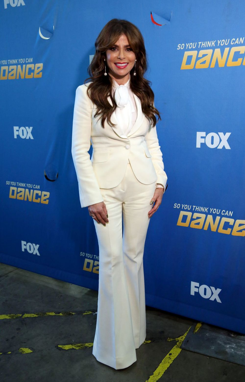 Paula Abdul     Suit: custom George Clinton Bespoke  Blouse: Barbara Bui  Shoes: Charlotte Olympia  Jewelry: XIV Karats  Nails: Kimmie Kyees
